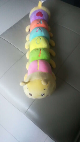 毛毛虫毛绒玩具 卡通长条睡觉抱枕虫子抱枕公仔布娃娃玩偶洋娃娃 可爱布偶创意儿童生日情人礼物 七彩色 65厘米 晒单图