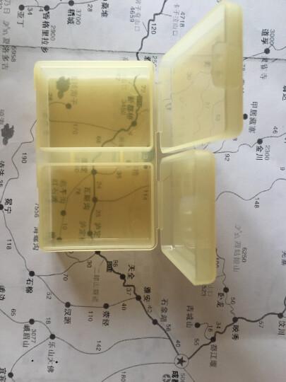 日本山田化学 药盒 密封收纳便携首饰盒独立小分格药盒 306橙红 晒单图