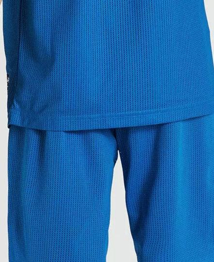 七波辉品牌童装2018夏季新品男大童篮球服户外运动套装儿童衣服 新彩蓝 155cm 晒单图