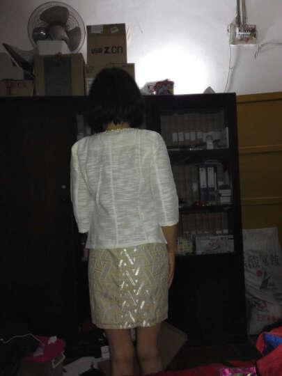 魅力东西棉麻连衣裙女装职业新款女装显瘦背心裙两件套装OL通勤01 七分袖西装 XXL适合130斤左右 晒单图