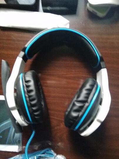 赛德斯(Sades) WCG纪念版 头戴式 立体声游戏耳机(白蓝) 晒单图