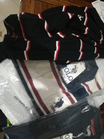 U.S. POLO ASSN.美国POLO短袖polo衫男士纯棉宽松T恤休闲男装24805 藏蓝色 M 晒单图