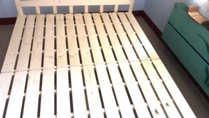 欧圣德 实木折叠床单人床午休床1米1.2米1.5米小孩床简易床双人床木板床 A款 150cm宽 晒单图