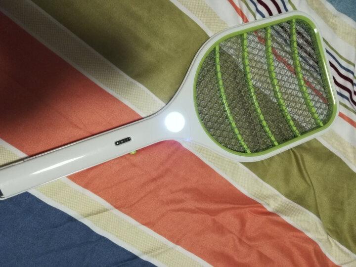 健能 锂电池电蚊拍充电式 家用灭蚊拍苍蝇拍多功能USB充电LED灯三层网强力驱蚊器锂电灭蚊器 JN-8839 绿色 晒单图