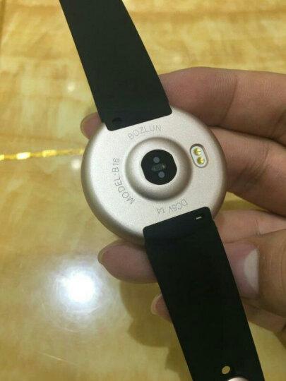 博之轮(BOZLUN) 【血压心率健康手环】3D炫彩动感智能手环睡眠监测微信来电提醒运动计步 黑色(血压心率监测+3D彩屏) 晒单图