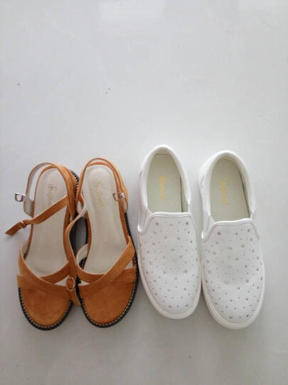 涉趣selftrend 春季新款女鞋学生百搭韩版轻便透气舒适女士运动鞋 清爽白 39 晒单图