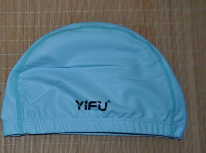 宜肤 防水泳帽 男女PU涂层布泳帽透气长发男女帽游泳不勒头游泳帽 湖蓝色 晒单图