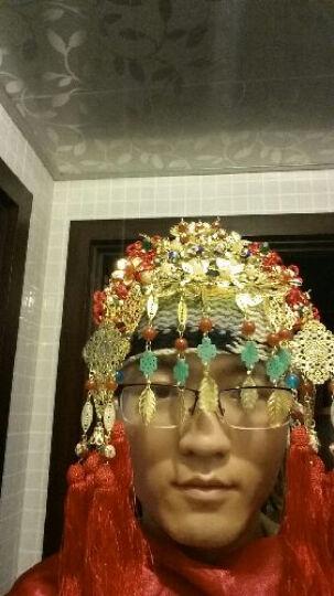 水舞新娘 古装新娘头饰红色古典流苏写真造型旗袍发饰凤冠套装 头饰两件套+耳环一对  礼盒装 晒单图