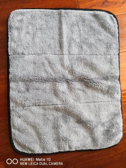 尖鹰 洗车毛巾 擦车毛巾 双面超细纤维吸水毛巾加厚不掉色专用擦车布玻璃清洁洗车汽车用品 黄色 晒单图