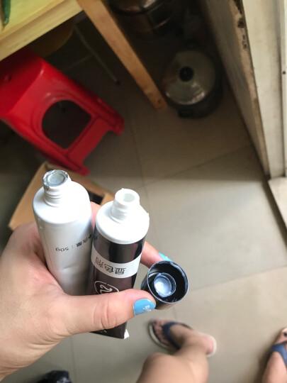 迪彩(Decolor) 染发剂 植物彩色天然黑色可遮白男女式不易掉色一梳黑染发霜一洗黑染发膏 棕黑色*1盒 晒单图