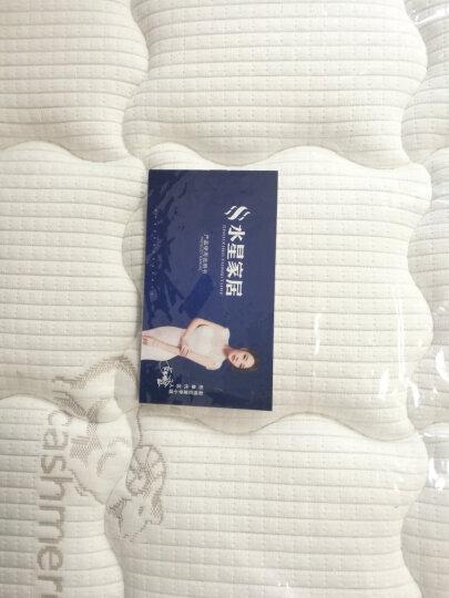 """水星 家居 """"海皇之星""""乳白色袋装精钢弹簧进口山羊绒布料床垫软硬两面天然椰棕3E环保棕 7区独立袋装弹簧+3E环保棕+山羊绒面料 1500*2000 晒单图"""