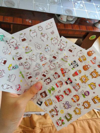 三合(SUNHEY) 手机贴纸韩国 可爱胖兔透明日记相册手帐小贴画 DIY贴纸 随机2张装 晒单图
