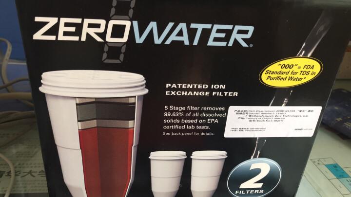 ZEROWATER 零水滤水净水壶净水器家用直饮厨房自来水过滤器十杯蓝色经典款ZP-010 二盒净水壶滤芯(4只装) 晒单图