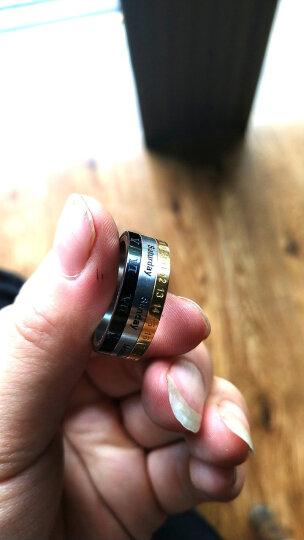 翼力 戒指男潮 欧美男士饰品个性尾戒指环 霸气食指中指戒子 罗马数字可转动 可刻字 美号10号(内直径19.8mm) 晒单图