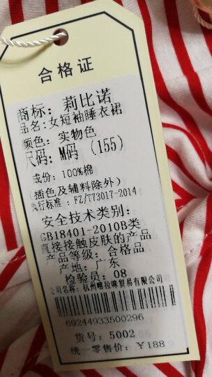 莉比诺睡衣女夏季短袖纯棉质女士青年学生可爱卡通居家服韩版加大码可外穿家居服套装 B6892#女款短袖 M码 晒单图