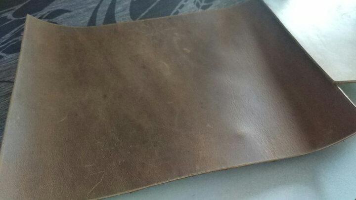 DIY皮料 头层牛皮皮料复古疯马皮皮料碎皮皮革面料边角料 深棕色系28*42厘米 晒单图