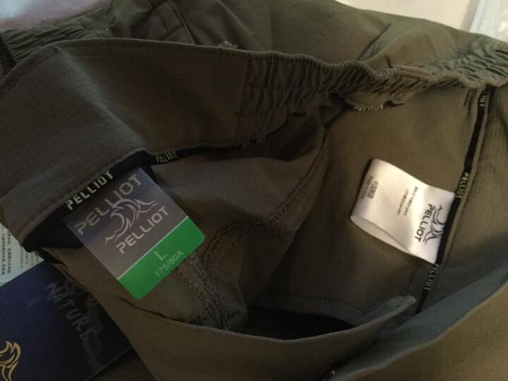 伯希和速干衣裤 男女夏弹力薄款户外运动快干长裤1701 女黑色 XL 晒单图