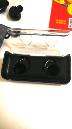 热狗HOTGO 蓝牙耳机双耳真无线迷你隐形超小耳塞入耳式运动手机跑步车载充 黑色-TWS-7 晒单图