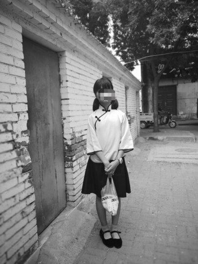 物有物语 童古装女春夏款复古毕业舞台表演摄影写真五四装民国学生童旗袍演出服装 白色上衣+黑色裙子 150cm(建议身高145-155cm) 晒单图