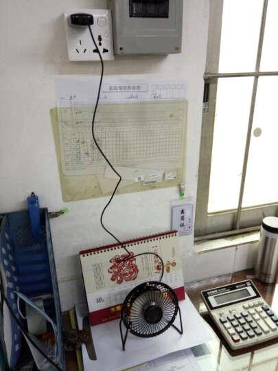 乾越(qianyue)电脑桌面usb迷你小风扇4寸迷你低音办公室风扇电扇家用风扇 天空蓝 晒单图