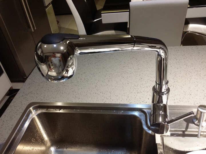 阿萨斯(ASRAS)8445 厨房水槽多功能单槽大 刀架 垃圾桶 12件套-配6043铜龙头 8445-304不锈钢 晒单图