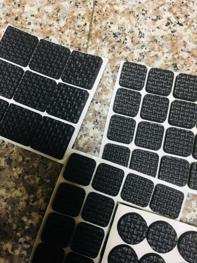 EVA橡胶强粘力不干胶桌椅垫垫脚桌椅脚垫家具垫脚垫脚垫保护垫黑色5mm厚规格齐全 边长0.9六边形(16片装) 晒单图