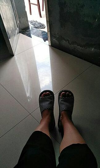 ICCASU男女室内棉布底拖鞋夏季情侣不伤木地板静音布艺家居棉拖鞋 XDJ 男款-格子咖啡 男士鞋码数-适合39-41 晒单图
