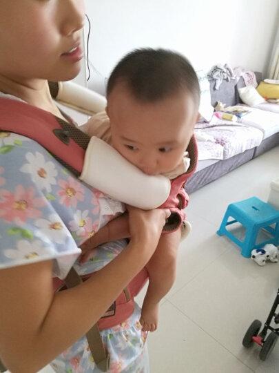 抱抱熊(bébéar)婴儿背带 多功能宝宝背带腰凳 背带腰凳二合一可拆卸两用 四季款G02胭脂粉 晒单图