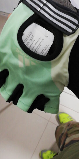 adidas Adidas阿迪达斯健身手套女运动骑行半指器械手套训练防滑耐磨透气手套 草绿色 L(1米7-1米75) 晒单图
