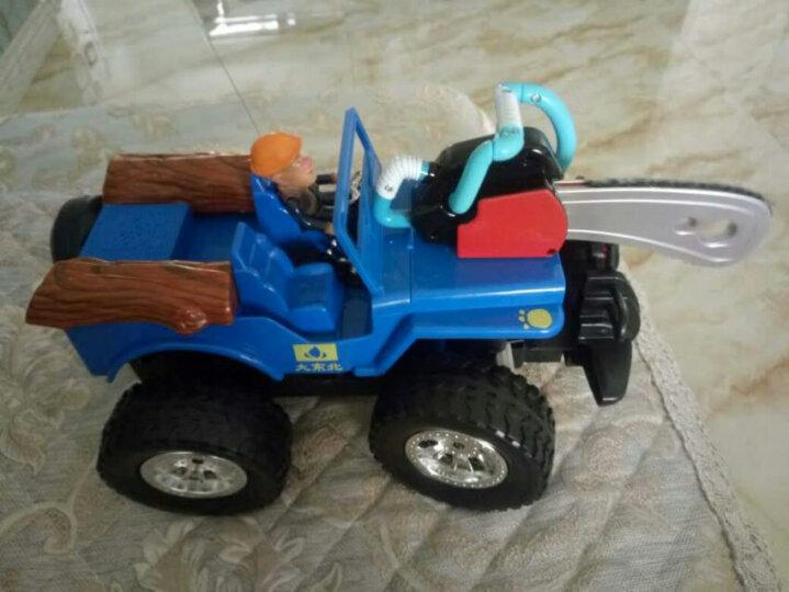 龙祥熊出没遥控车充电儿童玩具光头强越野车电锯子卡通汽车 男孩玩具 卡丁车2008DB蓝色 新款上市 晒单图