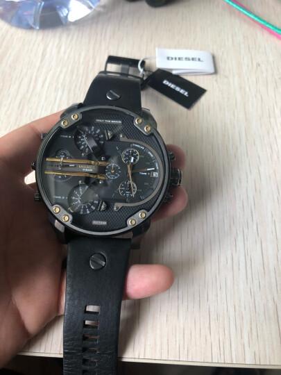 迪赛男表手表热款时尚黑色皮带三眼计时大表盘手表热款个性前卫防水石英表DZ7348 晒单图