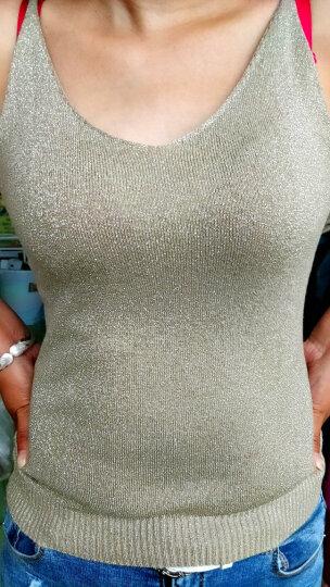 Shavim 2018秋季新款韩版大码女装内搭女士宽松显瘦无袖性感外穿针织打底衫短款小吊带背心女春秋 白色 L码 晒单图