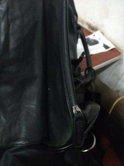 麦哲(MCGOR)Q男包手提旅行包男PU皮出差行李包单肩短途旅行袋健身包A9176MG 黑色 晒单图