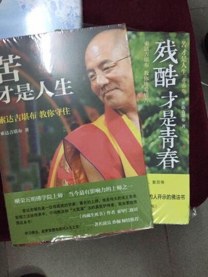 苦才是人生+做才是得到+残酷才是青春(套装 共3册)  佛家宗教成功励志 索达吉堪布 晒单图