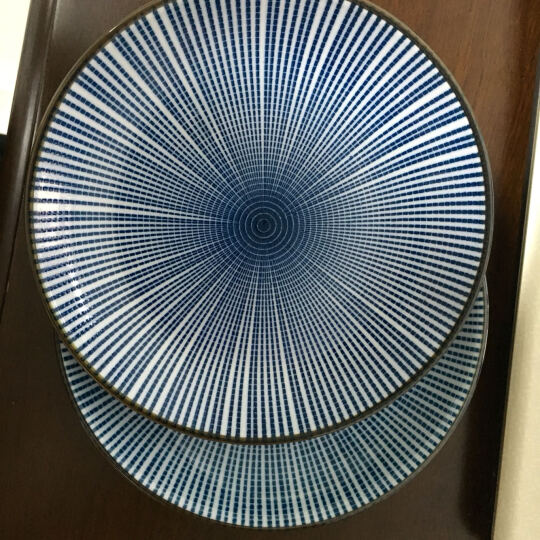 ART UNIVERSE 日式和风无铅陶瓷釉下彩餐具创意盘子圆盘平盘凉菜盘调味碟酱油碟 B款小勺(冰裂纹) 晒单图