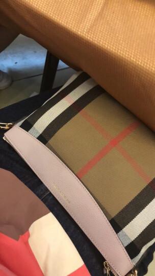 博柏利/巴宝莉 BURBERRY 女款HOUSE系列浅粉色织物配皮手拿包 39968841 晒单图