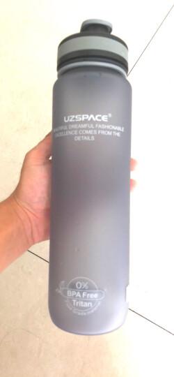UZSPACE优之大容量运动水杯男女士学生塑料杯子防漏磨砂太空杯健身运动水壶户外骑行水瓶 灰色防尘盖1000ml-3038 晒单图