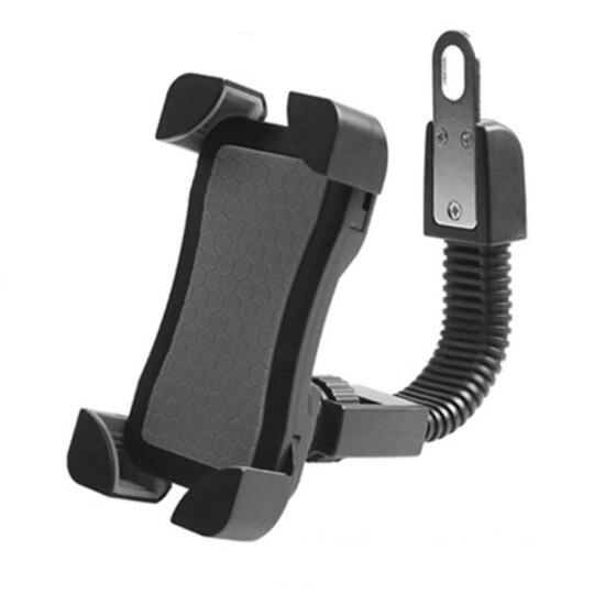 摩托车手机支架通用型电动车后视镜款支架手机导航仪支架 JS-030摩托车手机支架通用型电动车后视镜 黑色 晒单图