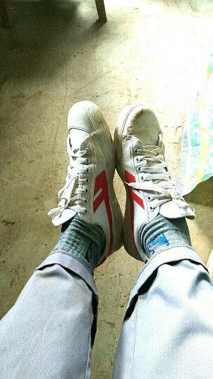 回力经典WB-1帆布鞋休闲鞋运动鞋情侣鞋篮球鞋男女舒适帆布鞋 003白红 42-偏大一码 晒单图