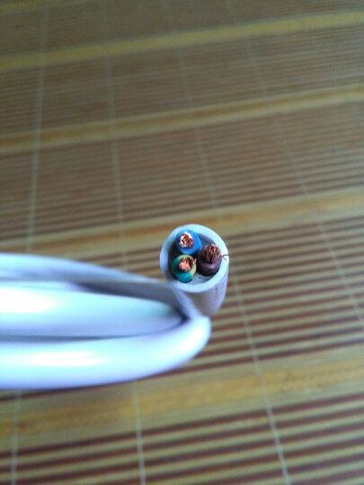 德力西 电线电缆三芯软护套线RVV3*2.5/1.5/0.5/0.75/1/4平方线单米 白色3*4 晒单图
