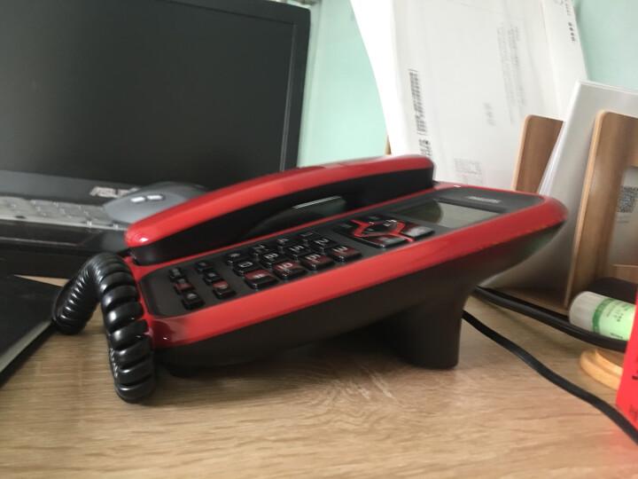 飞利浦(PHILIPS)CORD020 来电显示电话机 免电池/家用有绳座机/商务办公电话机 (红色) 晒单图