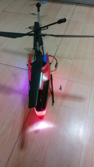 腾文颐 【终身保修】超大型耐摔遥控飞机70cm合金航模无人机玩具飞机飞行器遥控直升机 红色通彩70cm标配版 晒单图