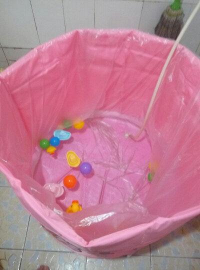 诺澳 新生幼婴儿游泳池家用 大号儿童戏水海洋球池 可调支架游泳桶免充气宝宝洗澡浴桶 80x85cm(粉色星星款)夹棉保温-均码脖圈套餐 晒单图