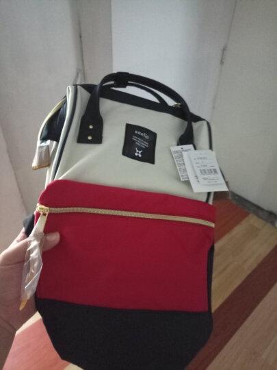 日本anello双肩包女新款休闲背包书包女 韩版 学院风范离家出走包经典款 红棕色书包 大号 晒单图
