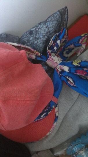 迷人微笑 遮阳帽女士夏天韩版运动户外防晒草帽可折叠大檐太阳帽新品 西瓜红09 晒单图