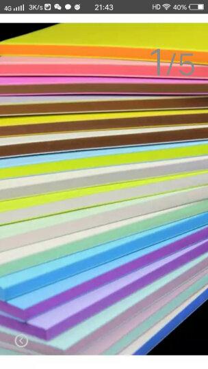 18色彩虹夹心 三层夹心雕刻橡皮 15*10*0.8cm 橡皮章彩色橡皮砖 白紫 晒单图