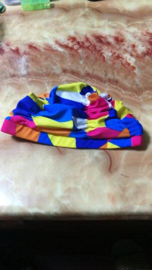 佑游 韩国男女通用时尚舒适布泳帽 成人加大不勒头长发护耳游泳帽 彩虹色 晒单图