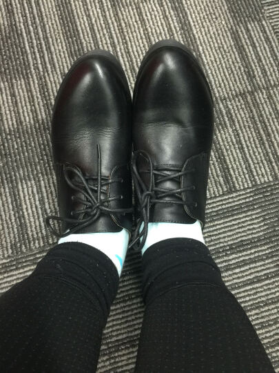 奥康女鞋   韩版系带踝靴 粗跟单鞋女休闲舒适中跟单鞋153121029 咖色153121030 37 晒单图