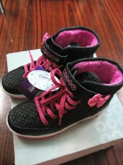 COEEO卡伊欧品牌女童鞋冬新款儿童运动鞋防水雪地靴子时尚款女童靴L223510 玫红 30码/内长19.5cm 晒单图