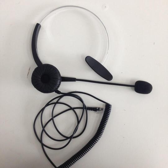 艾特欧HD300呼叫中心话务员耳麦客服话务耳机固话座机耳机 电脑PC 3.5双插头接口(带调音) 接电脑使用 晒单图